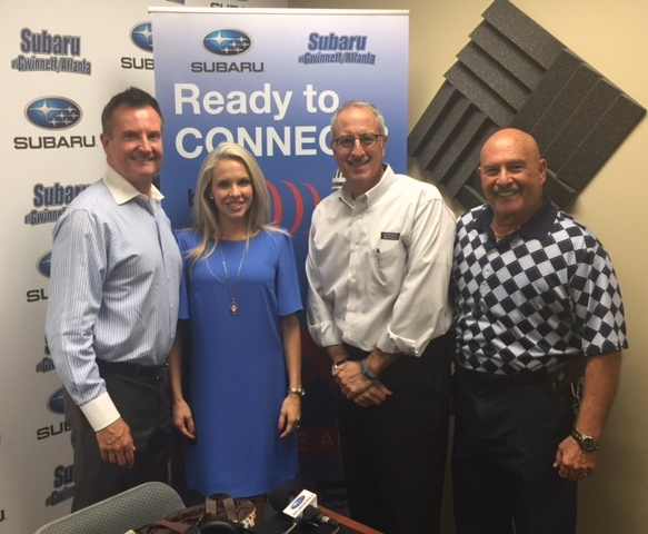 Host Rich Bartolotta with special guests Harvey and Allison Hillyer of Dermani Medspa and David Post of Care for Cops