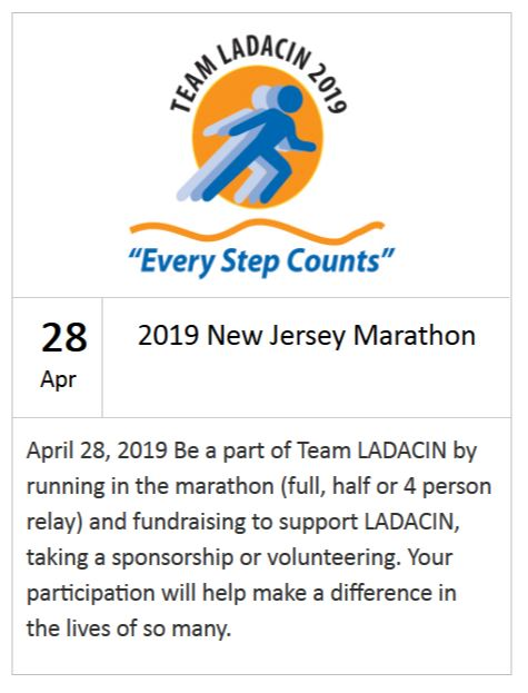 Schooley Mitchell Charity of the Month - event: 2019 New Jersey Marathon Team LADACIN